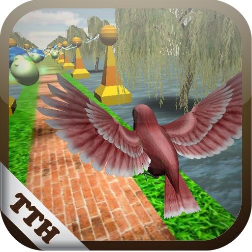 Bird Fly Temple 3D: Parkour on beach