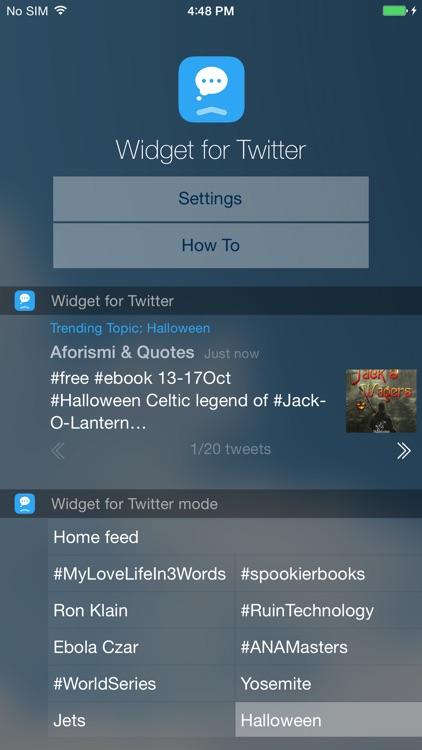 Widget for Twitter
