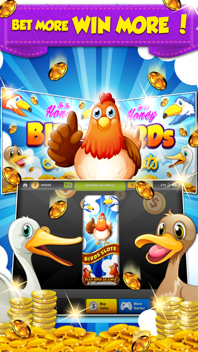 Yo Yo Honey Birds Slots - 777 Las Vegas Style Slot Machine screenshot one