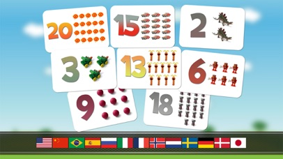 Numbers game 1 to 20 flashcards screenshot two