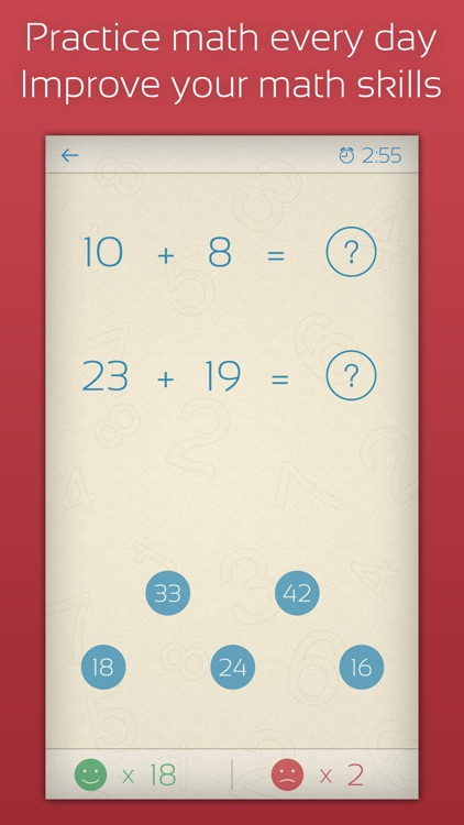 Math Practice 101: Addition, subtraction, multiplication, and division for kids screenshot-0