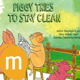 Piggy Tries To Stay Clean  - Interactive eBook in English for children with puzzles and learning games
