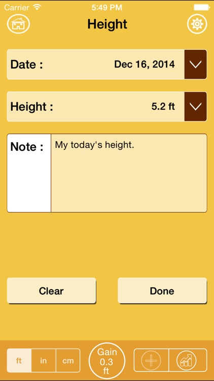 Height Tracking Calendar - Track your daily, weekly, monthly, yearly height and set personal goals screenshot-4