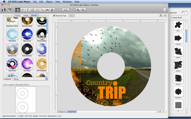 cd cover making software for mac
