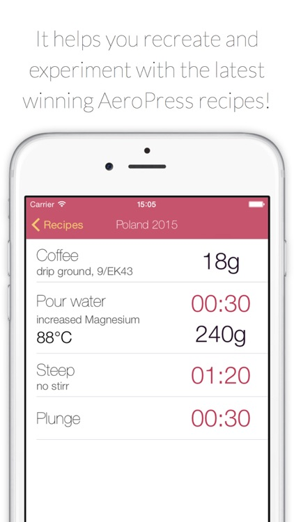 AeroPress Recipes and Timer