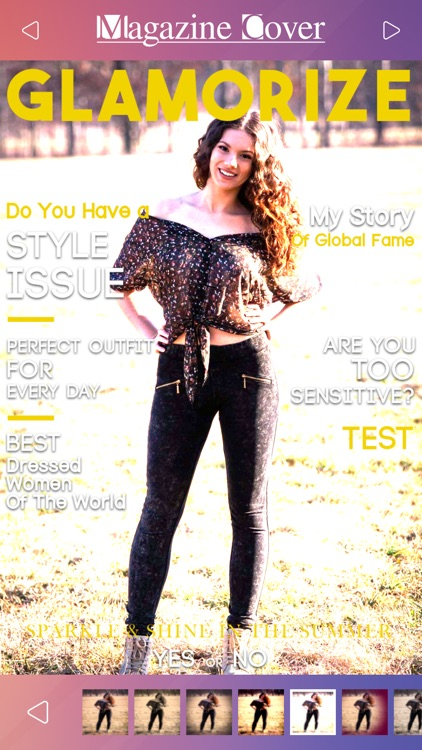 Magazine Cover Studio - Put your Pics in Frames with Text on Magazines to be Photo Models screenshot-3
