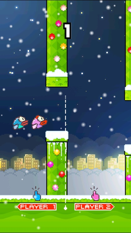 TinyFly Christmas 2014 - Xmas Flappy Racing - Multiplayer Birds Edition screenshot-4