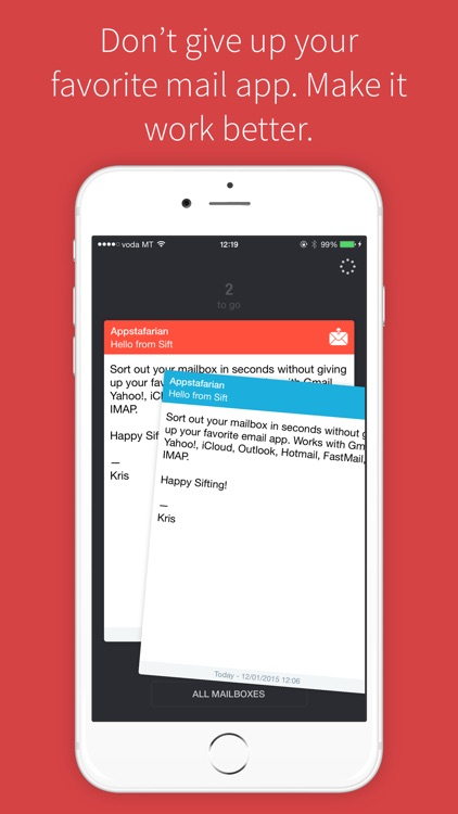 Sift - Gesture based email triage for all your mailboxes screenshot-0