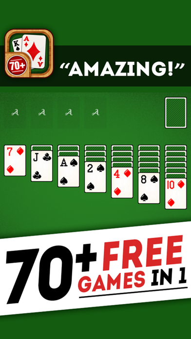 Solitaire 70+ Free Card Games in 1 Ultimate Classic Fun Pack