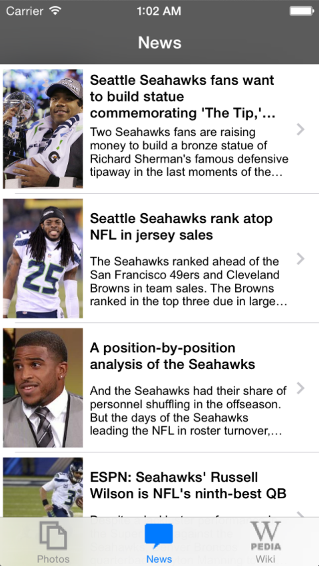 News For Seattle Seahawks Unofficial screenshot two