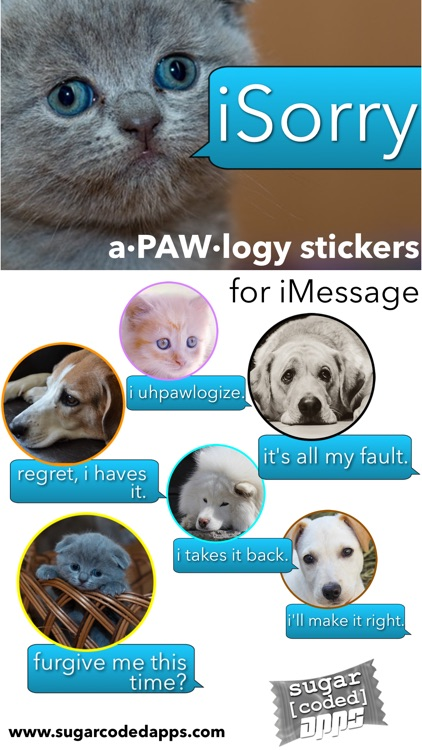 iSorry: a·PAW·logy Stickers