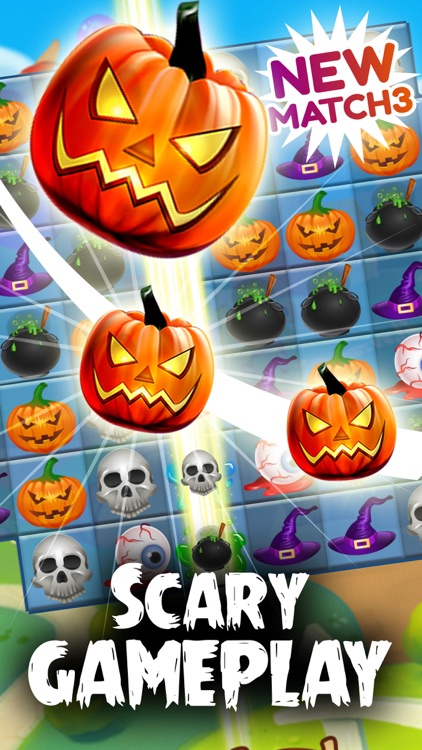 Halloween Scary Pumpkin Match 3 screenshot-3