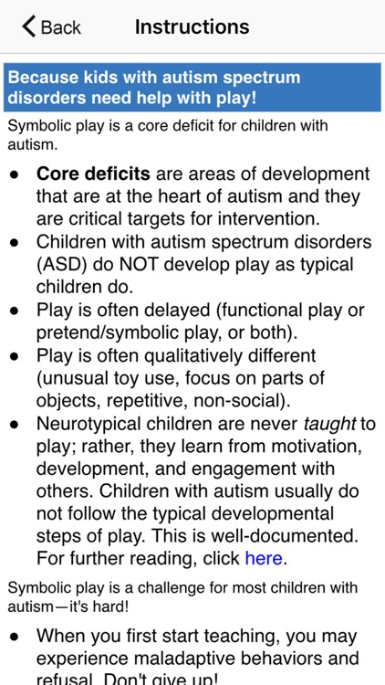Autism: Teaching Play
