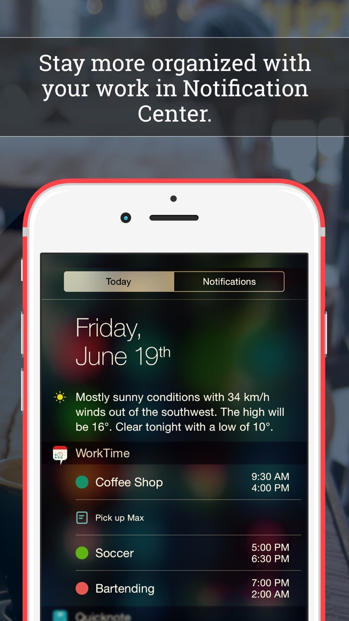 WorkTime: Work Schedule Shift Calendar Job Manager Screenshot