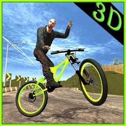 Mountain Bike Rider - Freestyle BMX Hill Climber