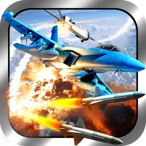 Air Drone Combat FREE - военных реактивных самолетов истребителей битвы моделирования