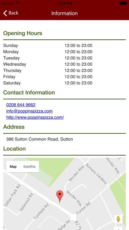 Poppins Pizza Sutton