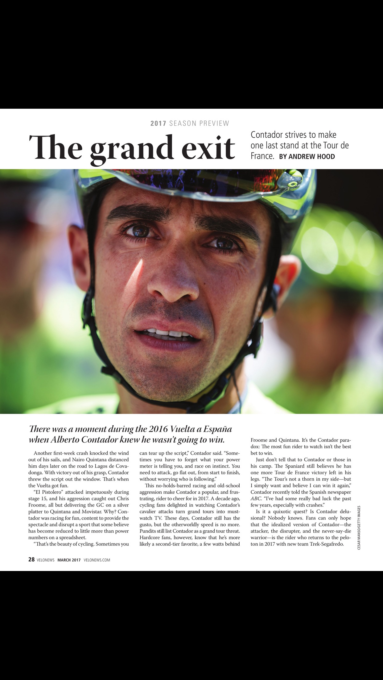 Velonews Magazine Screenshot