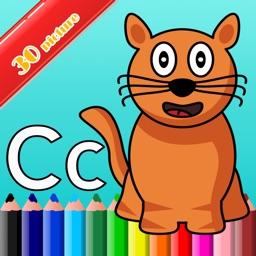 ABC alphabet color : Game Paint For Kids