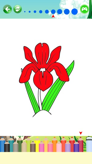 Beautiful Flowers Coloring Pages For Kids On The App Store