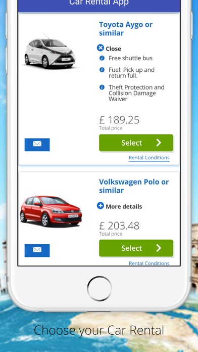 Car Hire App by Car Rental Choice Limited (iOS, United Kingdom