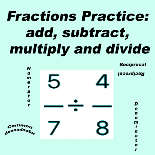 Fractions Practice: add subtract multiply divide by Paul Franz