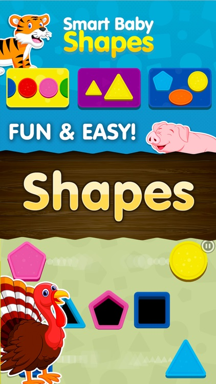 Shapes! Toddler Kids Games,Baby Boys Learning Free screenshot-0
