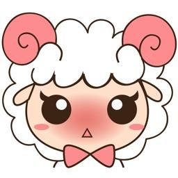 Kuri , the little sheep for iMessage Sticker