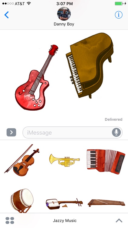 Jazzy Musical Instruments - World Music Stickers screenshot-4