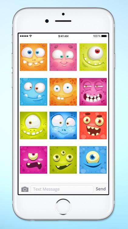 Monster Face Emoji Sticker Pack 2 screenshot-3