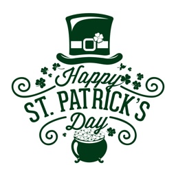 Happy St. Patrick's Day 2017 Handwritten Stickers
