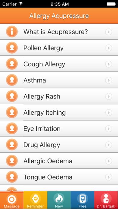 Allergy Acupressure Self-Treatment Massage Points! screenshot three