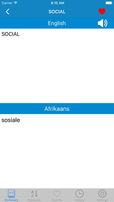 English to Afrikaans Offline Dictionary screenshot three