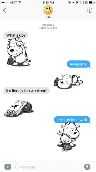 White Dog Adventures Stickers