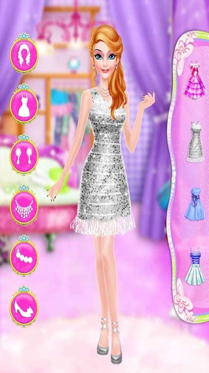 pink princess makeover games for girls screenshot-4