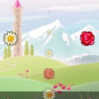 Magic flower with flower-gorgeous effects icon