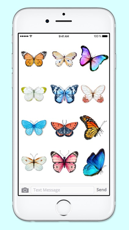 Beautiful Spring & Summer Butterflies Sticker Pack screenshot-4