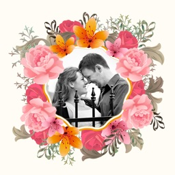 Flower Photo Frame - Instant Frame Maker
