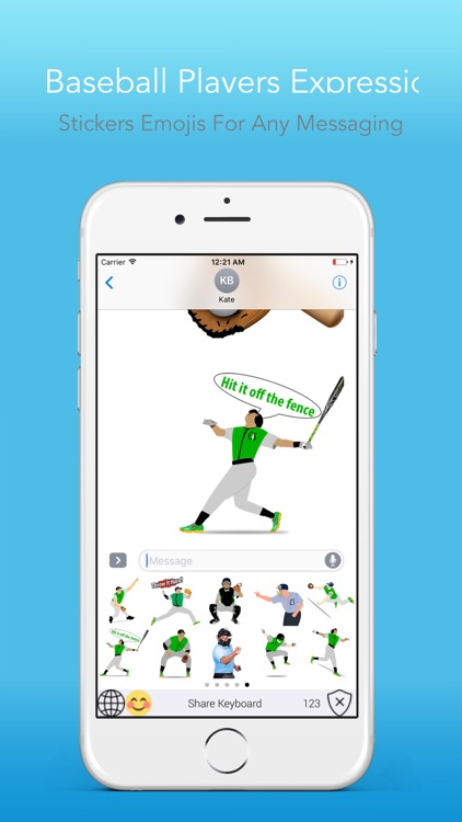 BaseballEMOJI - Custom Keyboard Sports Stickers screenshot-4