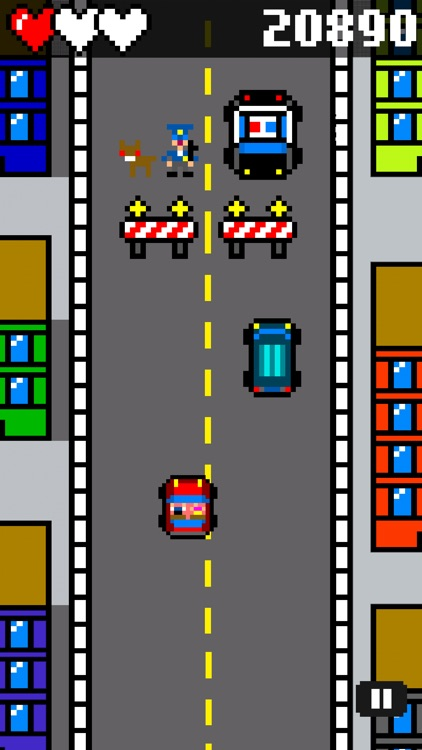 Drive and Jump: 8-bit retro racing action screenshot-3