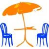 傘二つのステッカーパック