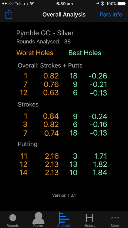 Golf X Stats Lite screenshot-2