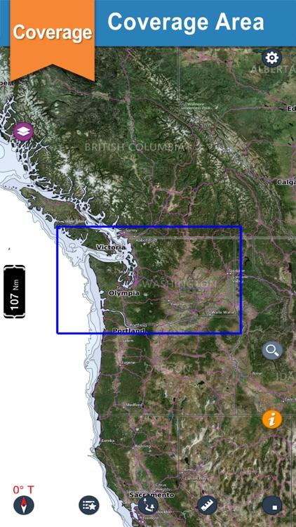Washington GPS Nautical Charts