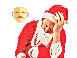 Sad Christmas and New Year Stickers for iMessage!