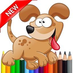 Kids Coloring Drawing Book - Cute Animal & Dog