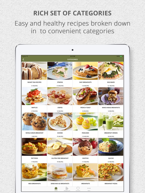 screenshot 2 for healthy breakfast recipes and shopping list