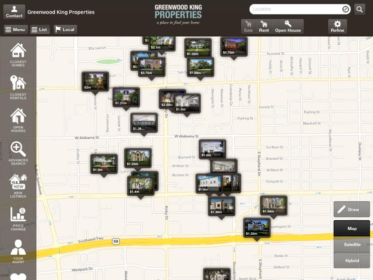 Greenwood King Properties Mobile for iPad