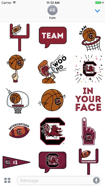University of South Carolina Animated+Stickers