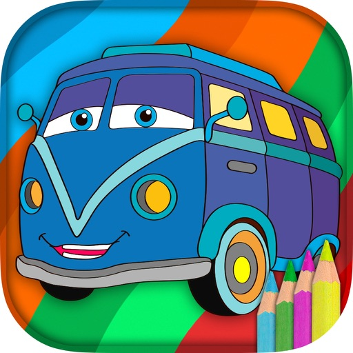 Cars coloring pages for kids – magic coloring book