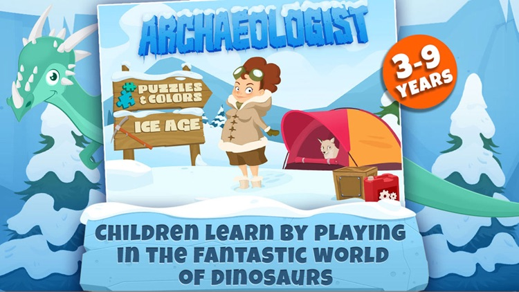 Archaeologist Dinosaur - Ice Age - Games for Kids screenshot-0